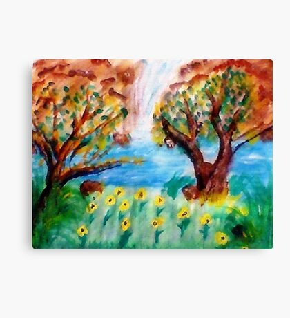 Meadow of release, watercolor Canvas Print