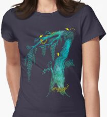 Tree Birds Womens Fitted T-Shirt