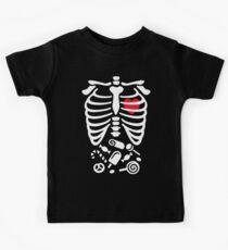 Scary Halloween X-Ray costume candy  Kids Tee