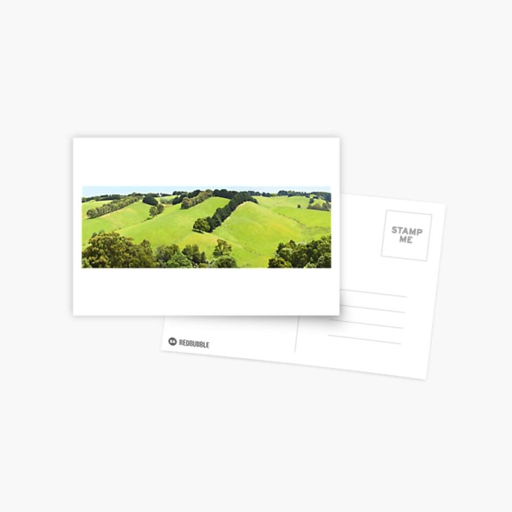 Rolling Green Hills, Gippsland, Australia Postcard