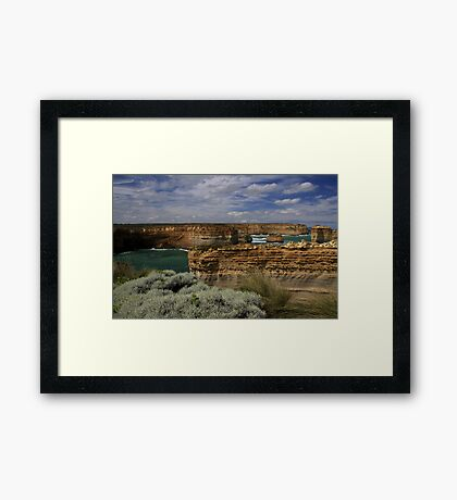 Bay and Cliffs, Great Ocean Road  Framed Print