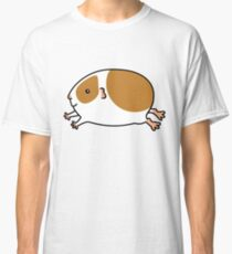 Smooth Leaping Guinea-pig ... Brown and White Classic T-Shirt