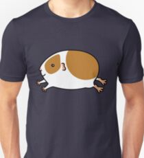 Smooth Leaping Guinea-pig ... Brown and White Unisex T-Shirt