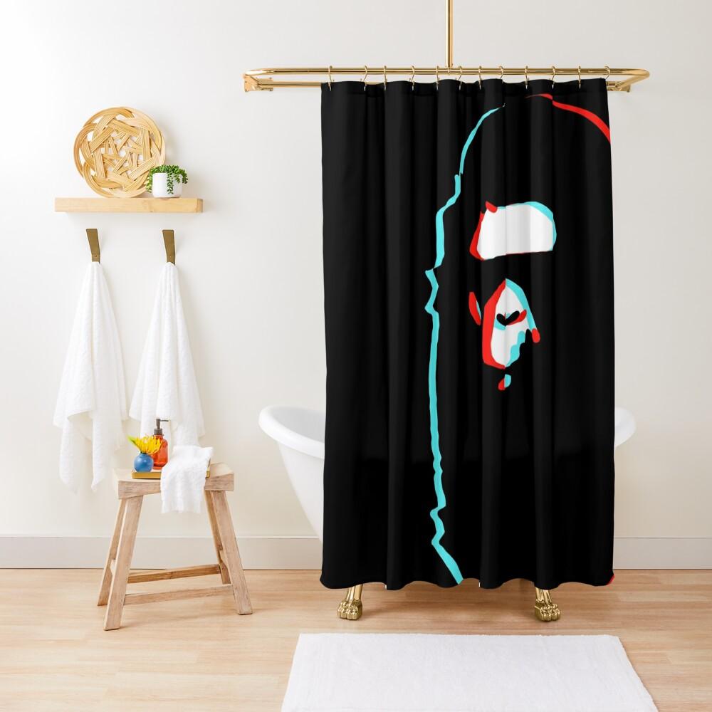 trippy bape Shower Curtain