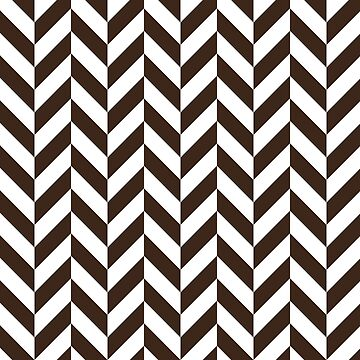 Chocolate Offset Chevrons by ImageNugget