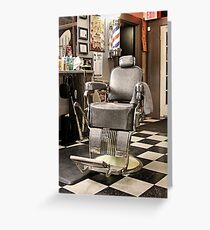 Where Manly Conversations Persist Greeting Card