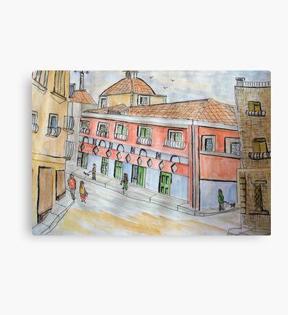 A spanish Village Canvas Print
