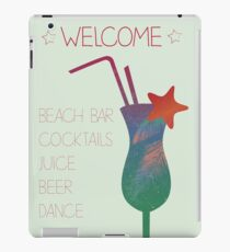 Welcome beach bar iPad Case/Skin