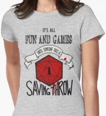 Its All Fun And Games Women's Fitted T-Shirt