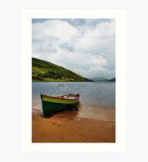 Lough Nafooey Boat Art Print