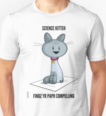Science Kitteh is reviewing your latest paper Slim Fit T-Shirt