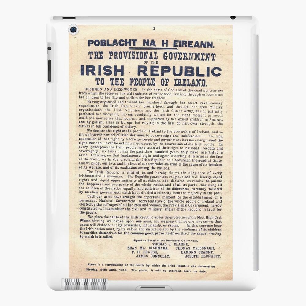 Proclamación irlandesa de 1916 Vinilos y fundas para iPad