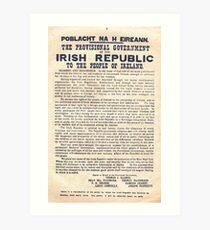 1916 Irish Proclamation Art Print