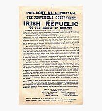 1916 Irish Proclamation Photographic Print