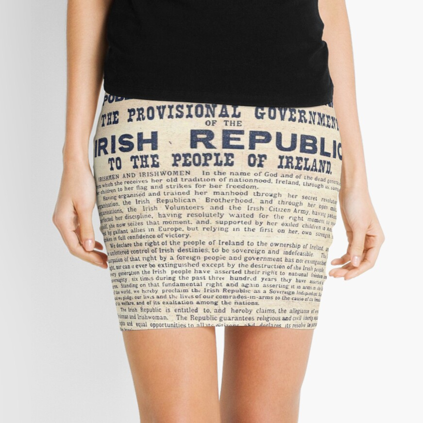 Proclamación irlandesa de 1916 Minifalda