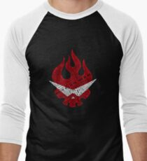 Gurren Lagann typography Men's Baseball ¾ T-Shirt