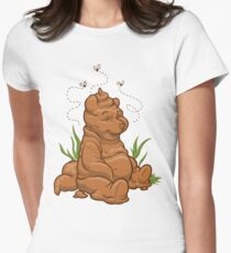 POO BEAR Womens Fitted T-Shirt