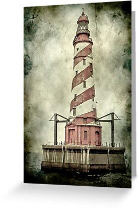 White Shoal LIghthouse on Lake Michigan by Theodore Black