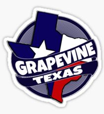Grapevine Texas flag burst Sticker
