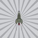 Retro Rocket Ship by icoradesign