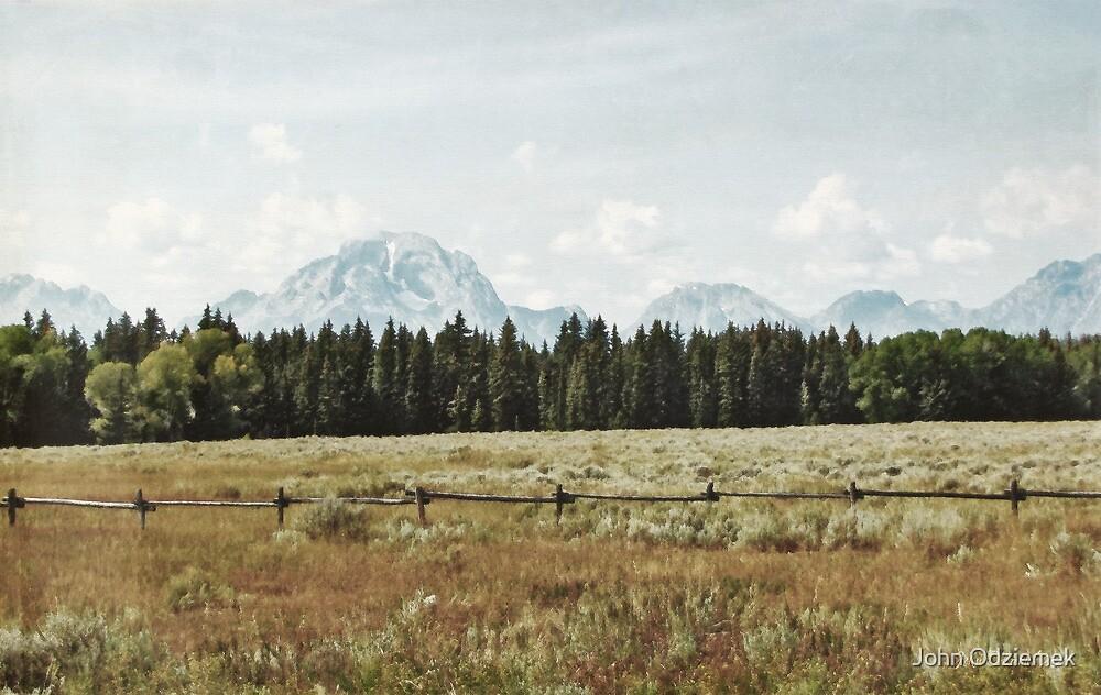 Teton Mountains by John Odziemek