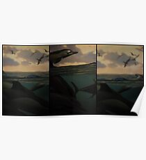 Natural History 001 Triptych Poster