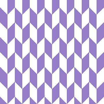 Lavander Thick Offset Chevrons by ImageNugget