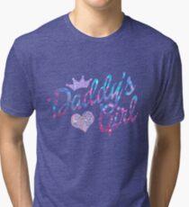Daddy's Girl in glitter Tri-blend T-Shirt