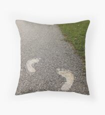 Bare Feet Throw Pillow