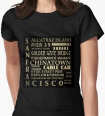 San Francisco Famous Landmarks Women's Fitted T-Shirt