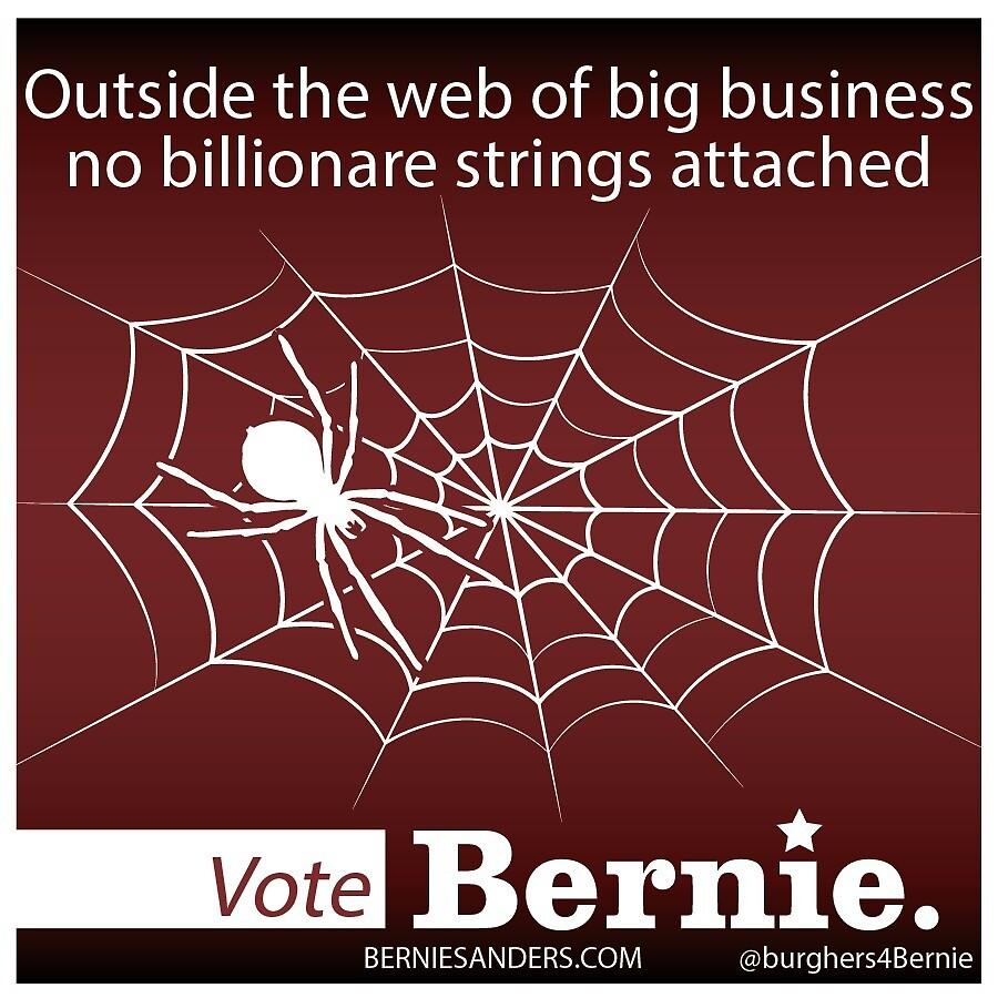Bernie Halloween Sticker Billionaire Web by burghers4bernie