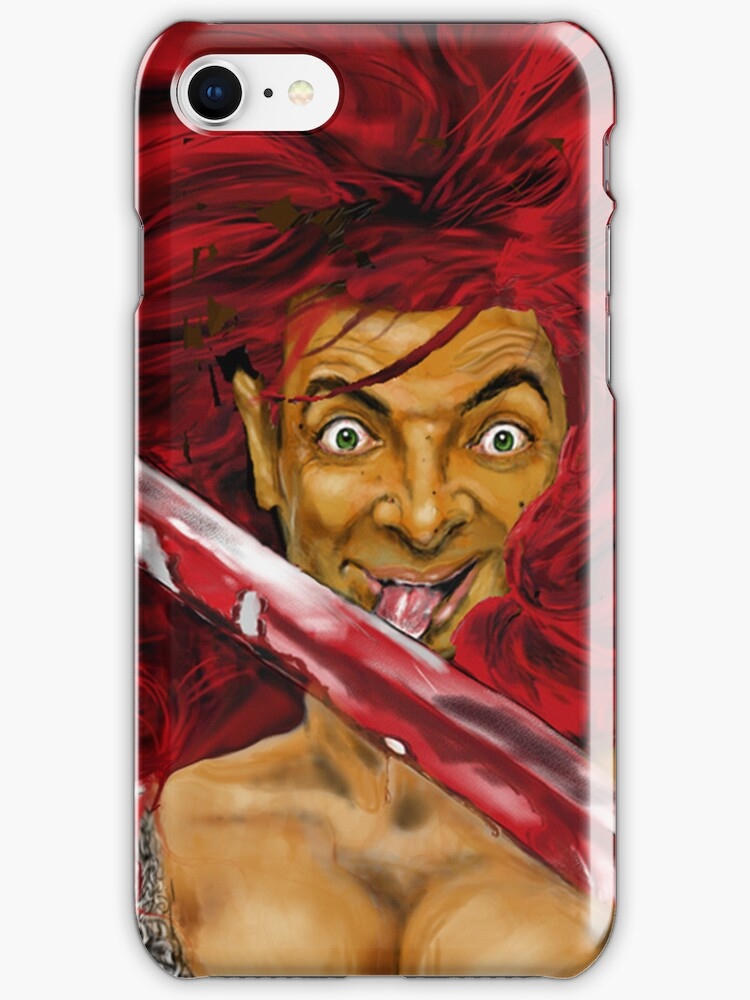 MR BEAN IS RED SONIA ! iPHONE CASE by Ray Jackson