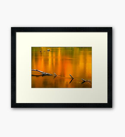 Autumn Reflections on the Holston River Framed Print