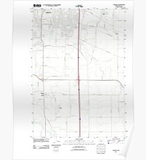 USGS Topo Map Oregon Tangent 20110831 TM Poster