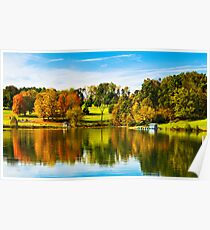 Steele Creek Autumn Reflections Poster
