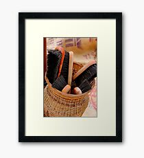 Scrubbing Brush Framed Print