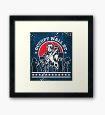 Occupy Wall Street poster Framed Print