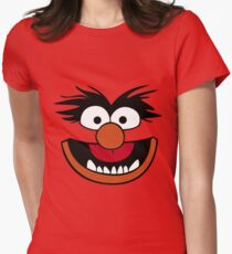 Animal Muppet (Orange Lips&Nose) Womens Fitted T-Shirt