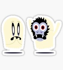 Scaredy Ghost Sticker