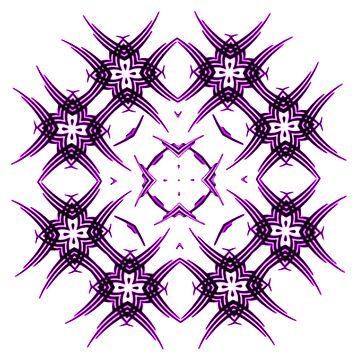 Tribal Purple Square by Bubblegum73