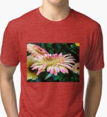 Breast Cancer Awareness Gerber Daisy Tri-blend T-Shirt