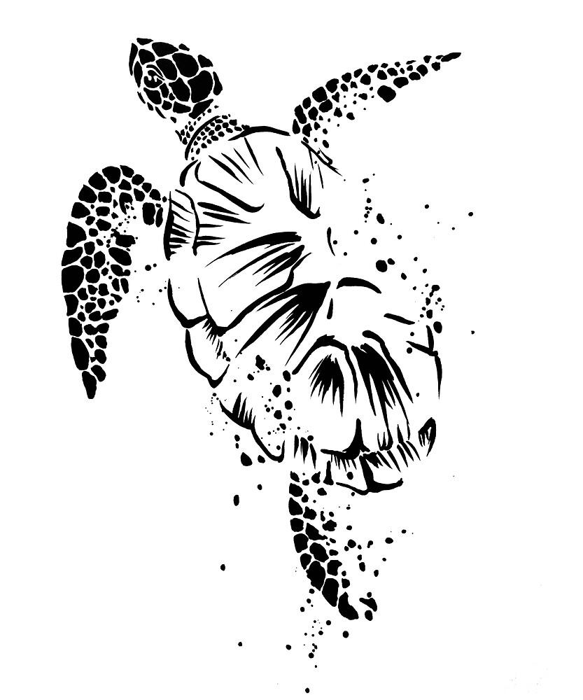 Celebrate the Earth Sea Turtle Ocean Wildlife Design by Monica C. Webster