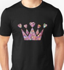 Pretty Pastel Glitter Queen of Hearts Unisex T-Shirt