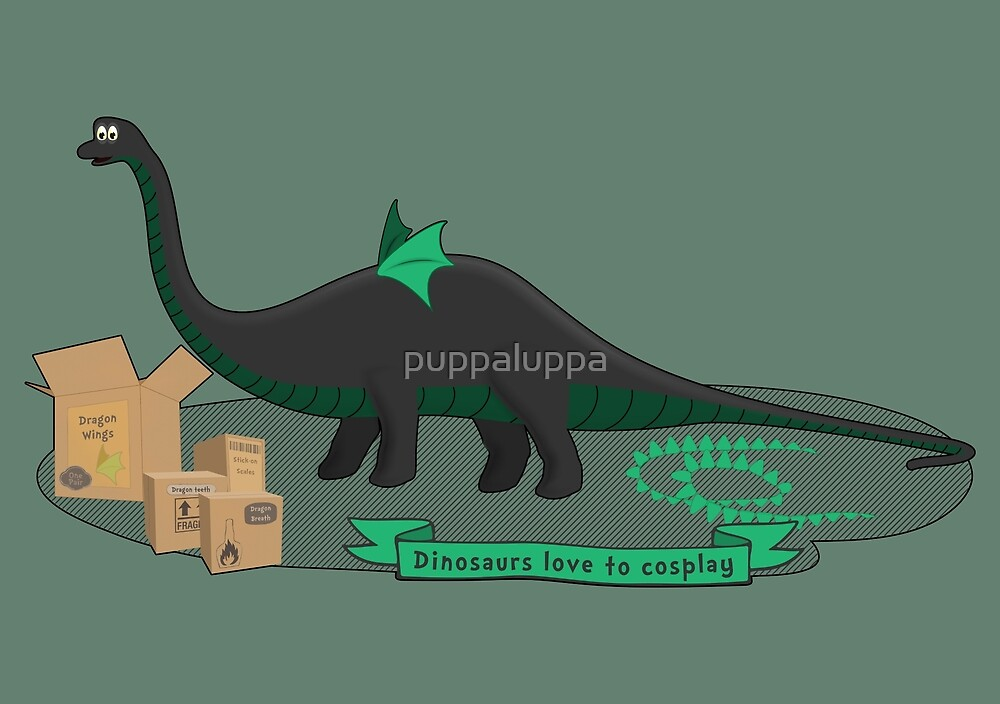 Dinosaurs love to cosplay by puppaluppa