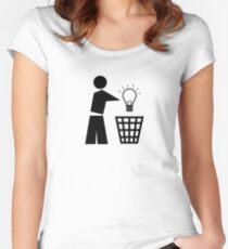 Bin your ideas Women's Fitted Scoop T-Shirt