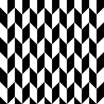 Black Thick Offset Chevrons by ImageNugget