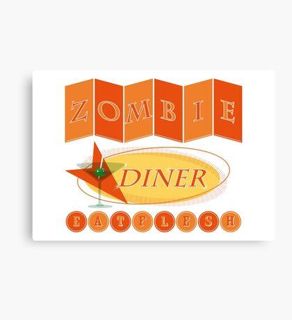 Zombie diner Canvas Print