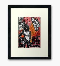 "'WHATEVER"" Woodcut Digital Print Framed Print"