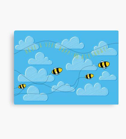 Happ - bee Birthday! Canvas Print