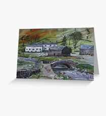 """""""Keeping the Home Fires Burning"""" - Watenlath, the Lake English District Greeting Card"""